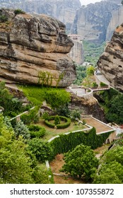 Meteora Valley, beautiful place from Greece, Meteora monasteries