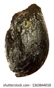 Meteorite rock Black color