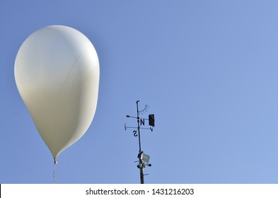 meteorological balloon at the meteorological station for testing - Shutterstock ID 1431216203