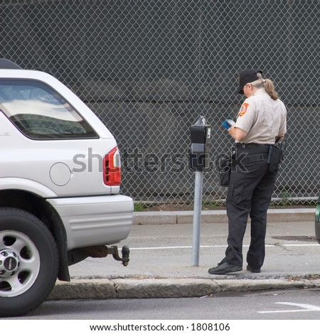 Meter Maid Issues Parking Ticket