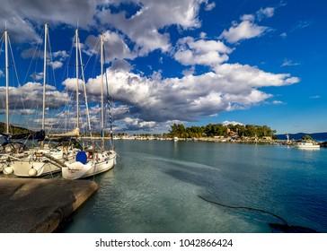 Methana port in Peloponnese, Greece