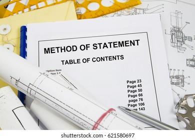 Method statement imgenes pagas y sin cargo y vectores en stock method of statement brochure with blueprint concept malvernweather Images