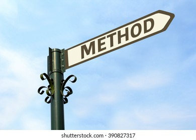 METHOD WORD ON ROADSIGN