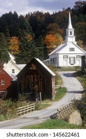 Methodist Church in Waits River, VT in autumn