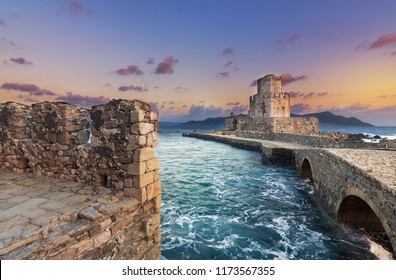 The Methoni Venetian Fortress in the Peloponnese, Messenia, Greece