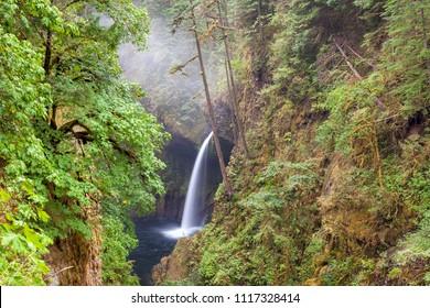 Metlako Falls along Eagle Creek in Columbia River Gorge Oregon