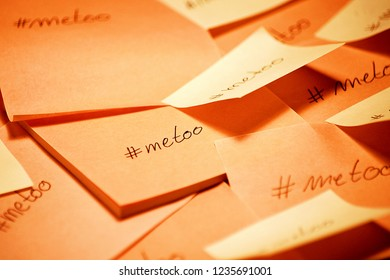 metoo hashtag written
