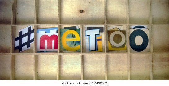 #metoo ,letters in a old wooden box rom above