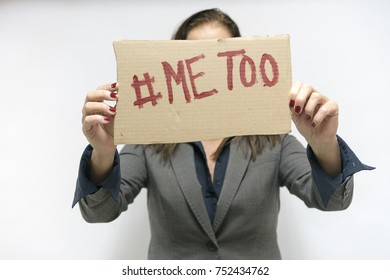 metoo sign abused woman