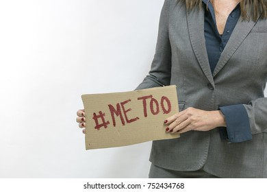 metoo sign abused woman