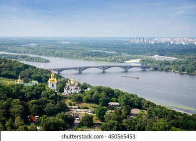 Metro bridge across the Dnieper River in Kiev