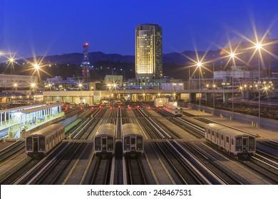 Metro of Los Angeles, night