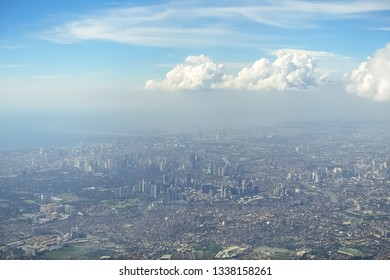 Metro Manila Aerial Shot, Metropolis on sunny day -  Philippines