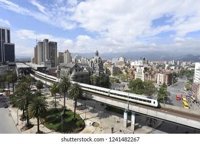 Metro de Medellín, Palacio de Cultura Rafael Uribe Uribe y Museo de Antioquia. Medellín Colombia
