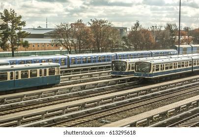 Metro railway train yard