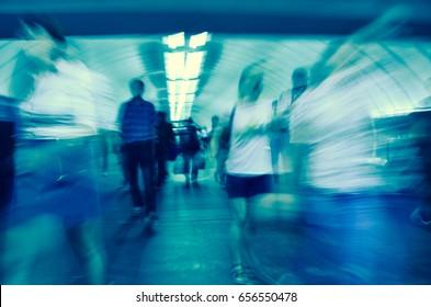 metro station blur view