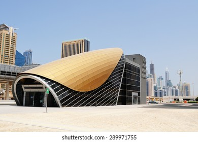 Metro station in Dubai.