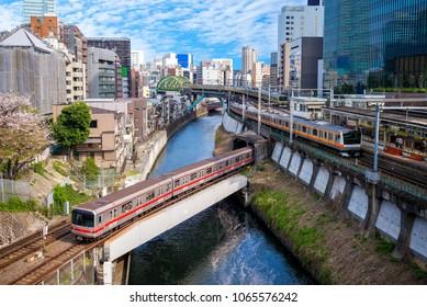 metro system of tokyo city, japan