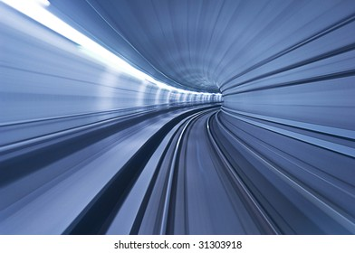 metro tunnel in high speed