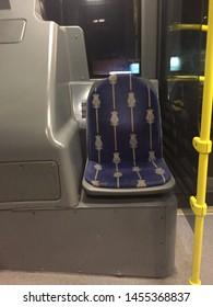 Metrobus, interior of new modern bus