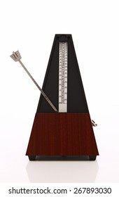 Metronome over white background