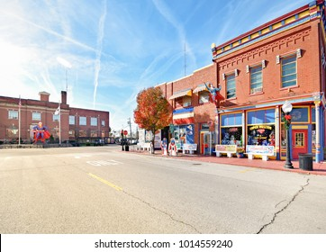 METROPOLIS, IL, USA - NOVEMBER 20, 2017: Downtown Metropolis hometown of Superman in Metropolis, Illinois USA