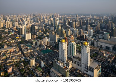 Metropolitan Bangkok City downtown cityscape urban skyline  Thailand in December 2017 - Cityscape Bangkok city Thailand