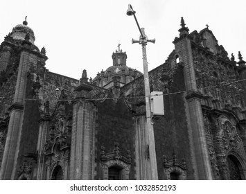 Metropolitan Cathedral of the Assumption of the Most Blessed Virgin Mary into Heaven. Mexico City architecture. North America