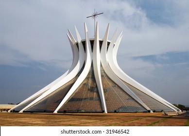 Metropolitan Cathedral in Brasilia, Brazil