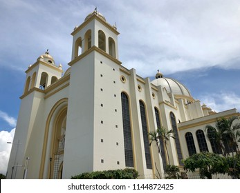 Metropolitan Cathedral of the Holy Savior (Catedral Metropolitana de San Salvador), principal church of the Roman Catholic Archdiocese of San Salvador, El Salvador, facing Plaza Barrios in city center