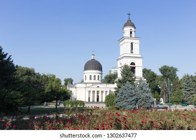 The Metropolitan Cathedral Nativity of the Lord. It is the main cathedral of the Moldovan Orthodox Church in Central Chisinau Moldova.