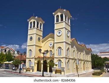 Metropolitan church of 'Pantokrator' at Lixouri city of Kefalonia island in Greece