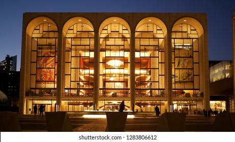 Metropolitan Opera called MET at Lincoln Center in Manhattan - NEW YORK / USA - DECEMBER 4, 2018