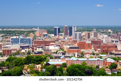 Metropolitan Skyline of downtown Birmingham, Alabama, USA.