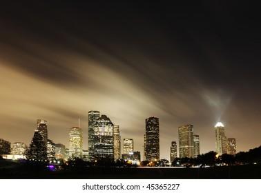 Metropolitan Skyline at Night - Houston, Texas