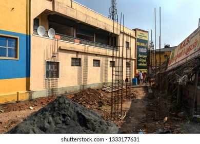 METTUPALAYAM, TAMIL NADU, INDIA - OCTOBER 26, 2018: Street photography, with a scene of the bustling. vibrant and colourful streets in the town of Mettupalayam, a taluk of Coimbatore in Tamil Nadu.