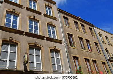 Metz, France - july 25 2016 : the picturesque old city center in summer