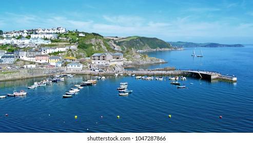 Mevagissey Harbour near St Austell, Cornwall UK