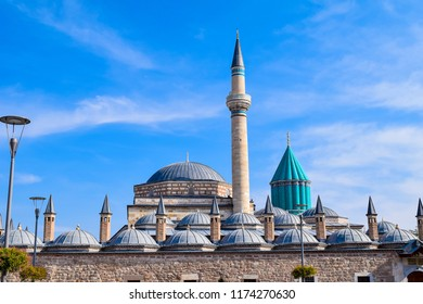 Mevlana Museum mosque in Konya, Turkey, which is known as Sufism center