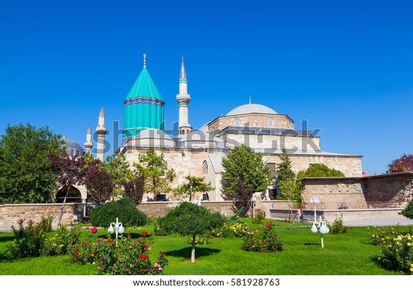 Mevlana museum mosque in Konya, Turkey