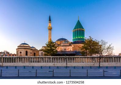 Mevlana museum  view from street, Mevlana Celaleddin-i Rumi is a sufi philosopher and mystic poet of Islam.