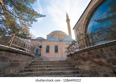 Mevlevi Cami, Old mosque  view in Afyonkarahisar. Afyon is located center of Anatolia.