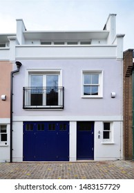 A mews house converted from an old stable carriage building in North Kensington, London, UK.