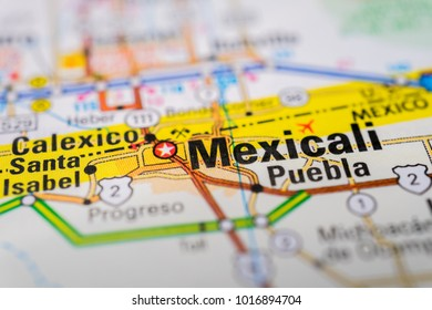 Mexicali on the map USA