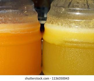 Mexican agua fresca sweet juice drink