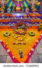 Mexican altar for Day of the dead (Dia de los muertos)