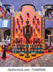 Mexican altar for Day of the dead (Dia de los muertos)