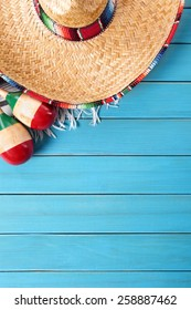 Mexican background, sombrero