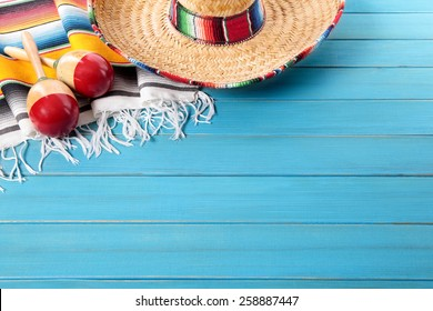 Mexican background, sombrero, cinco de mayo
