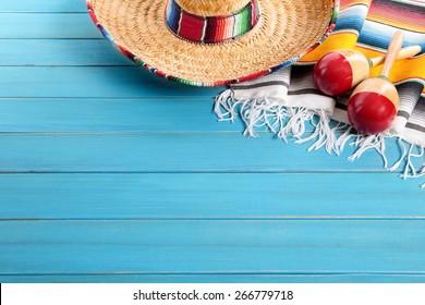 Mexican background, sombrero, cinco de mayo